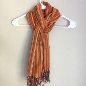 Accessories - Orange Scarf Egyptian Cotton